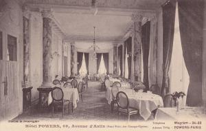 PARIS , France , 00-10s ; Hotel POWERS , Salle a manger