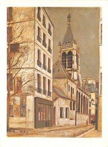 The church of saint-Severin Maurice Utrillo Art Unused