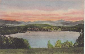 New York Adirondack Moutnains Southern Mountain Range Handcolored Albertype