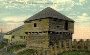 Old Fort Halifax in Waterville, Maine