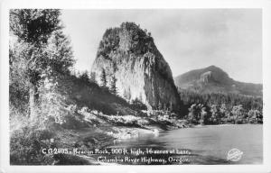 CG2493. Beacon rock, Columbia River Highway, OR Frasher Real Photo Postcard