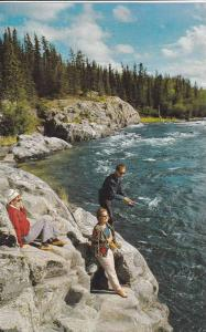 Fishing the Yellowknife Rapids , N.W.T. , Canada , 40-60s #2