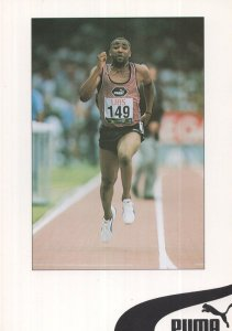 Mo Farah Plain Back Postcard Olympic Games Athlete PB Postcard