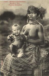 CPA Senegal Ethnic Nude Fortier - 1422. Etude n 101 Femme Soussou (71037)