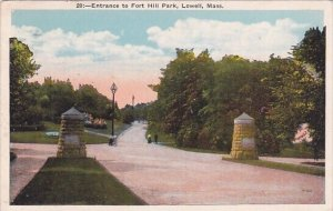 Entrance To Fort Hill Park Lowell Massachusetts 1928