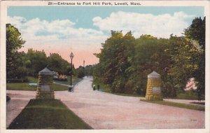 Entrance To Fort Hill Park Lowell Massachusetts 1928