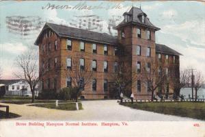 Stone Building , Hampton Normal Institute , HAMPTON , Virginia , PU-1909