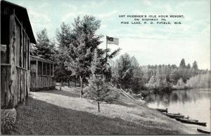 Fifield Wisconsin~Pike Lake~Art Huebner's Idle Hour Resort~Screen Porches~1940s