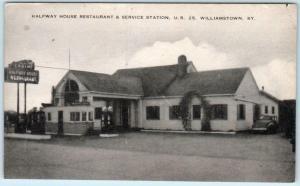 WILLIAMSTOWN Kentucky KY  Roadside HALFWAY HOUSE Restaurant Gas Station Postcard