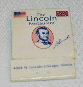 The Lincoln Restaurant Chicago Illinois 20 Strike White Matchbook Cover