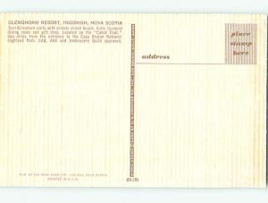 Pre-1980 GLENGHORM RESORT RESTAURANT Ingonish - Cape Bretton NS o0665