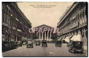 Postcard Old Paris Rue Royale and the Madeleine