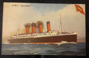 RMS Lusitania unused