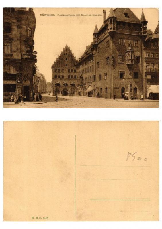 CPA AK GERMANY  Nürnberg Nassauerhaus mit Karolinenstrasse (571937)