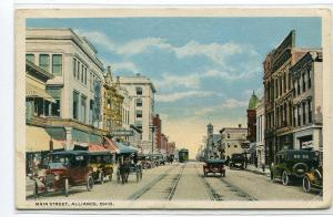 Main Street Alliance Ohio 1916 postcard