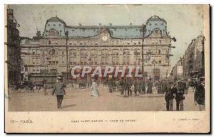 Old Postcard Paris Gare Saint Lazare Cour Du Havre