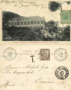 brazil, PETROPOLIS, Rio de Janeiro, Fabrica de Sedas na Villa Gapitani (1904)