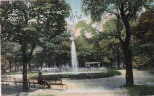 Michigan Detroit Fountain In Cass Park 1908