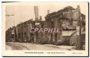 Postcard Modern Army Oradour sur Glane Rue Emile Desourteaux