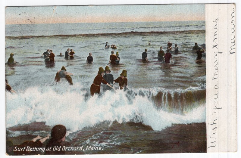 Surf Bathing at Old Orchard, Maine