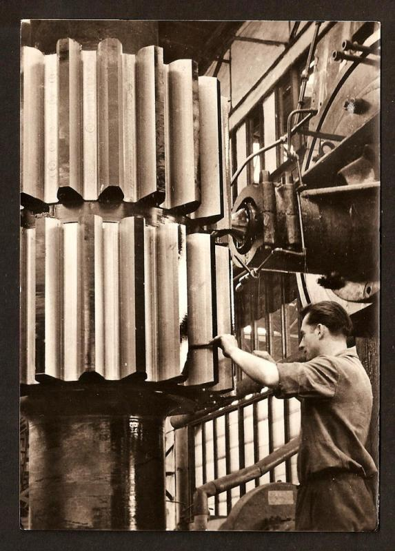 CZECH REPUB. POSTCARD R.PHOTO PRODUCTION OF GEAR WHEELS RARE