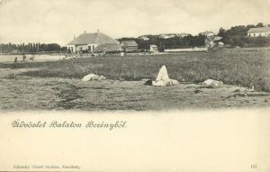 hungary, BALATONBERÉNY, Berényböl, Panorama (1899)