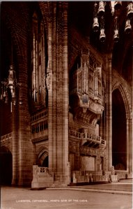 Liverpool Cathedral interior chair vintage postcard