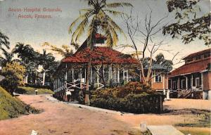 Panama Old Vintage Antique Post Card Ancon Hospital Grounds Postal Used Unknown