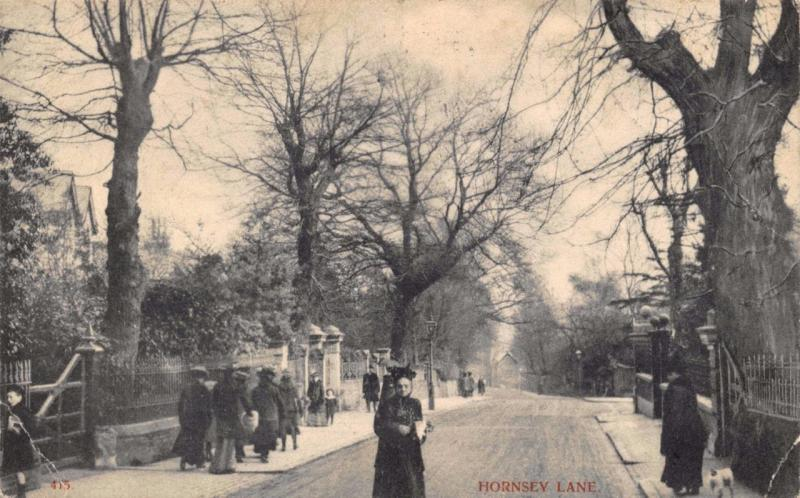 Vintage Postcard 1904 Hornsey Lane London by Charles Martin