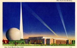 NY - 1939 New York World's Fair. New York City Building
