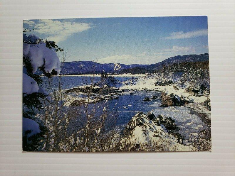VTG Postcard Ingonish Cape Breton Nova Scotia Canada Snowy Ski Slopes 1990  398