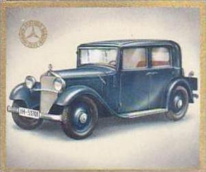 Garbaty Cigarette Card Cars Of Today No 81 Mercedes Benz MB 200  4 Seat Innen...