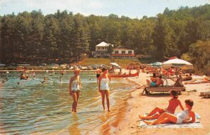 Hendersonville North Carolina beach scene Laurel Lake Inn vintage pc ZD549889