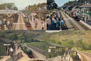 Ravenglass & Eksdale Railway Dalegarth Booking Office Cafe 4x Postcard s