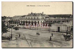 Old Postcard Rennes The Station West State