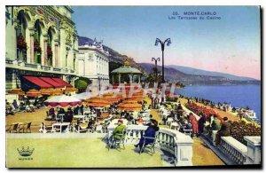 Old Postcard Monte Carlo Casino Terraces
