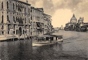 Italy Venezia Grand Canal and the Franchetti Palace Bateau Boat