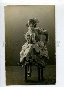 299317 Eugenia BIBER Russian BALLET Dancer Vintage PHOTO PC