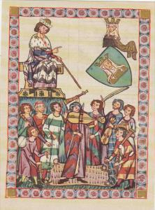 Minnesinger Miniatures Meister Heinrich Frauenlob Medieval Art Germany