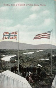 WHITE PASS , Alaska, 1900-10s; Flags on the Summit