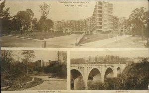 Washington DC Wardman Park Hotel From Calvert St. c1920 Real Photo Postcard