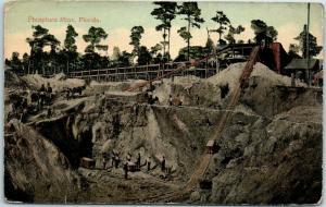 Vintage, Florida Postcard PHOSPHATE MINE Mining Scene c1910s Unused *CREASED