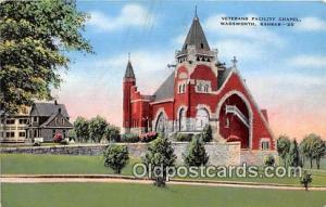 Churches Vintage Postcard Wadsworth, KS, USA Vintage Postcard Veterans Facili...