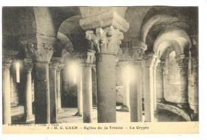 Interior, Eglise De La Trinite, La Crypte, H. C. Caen (Calvados), France, 190...