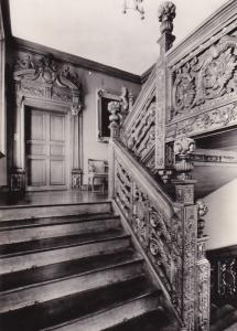 Blithfield Staffordshire Curved Staircase Vintage Real Photo Postcard