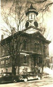 Vtg RPPC 1940s Rutland County Court House Rutland VA Virginia UNP Cars Street