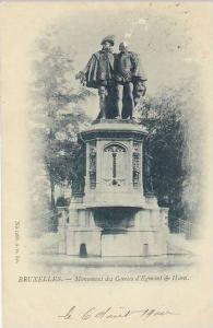 Belgium Brussels Monument des Comtes d'Egmont & Horn 1900