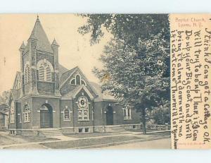 Divided-Back CHURCH SCENE Lyons New York NY A9840