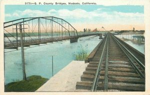 County Bridges 1920s Southern Pacific Railroad Postcard Pacific Novelty 20-3168