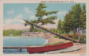 New York Adirondacks Glimpse Of West Caroga Lake Curteich